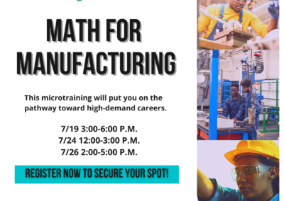 Math for Manufacturing – FREE  MICROTRAINING!